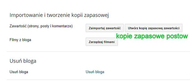 Blogger, blogspot, kopie zapasowe.