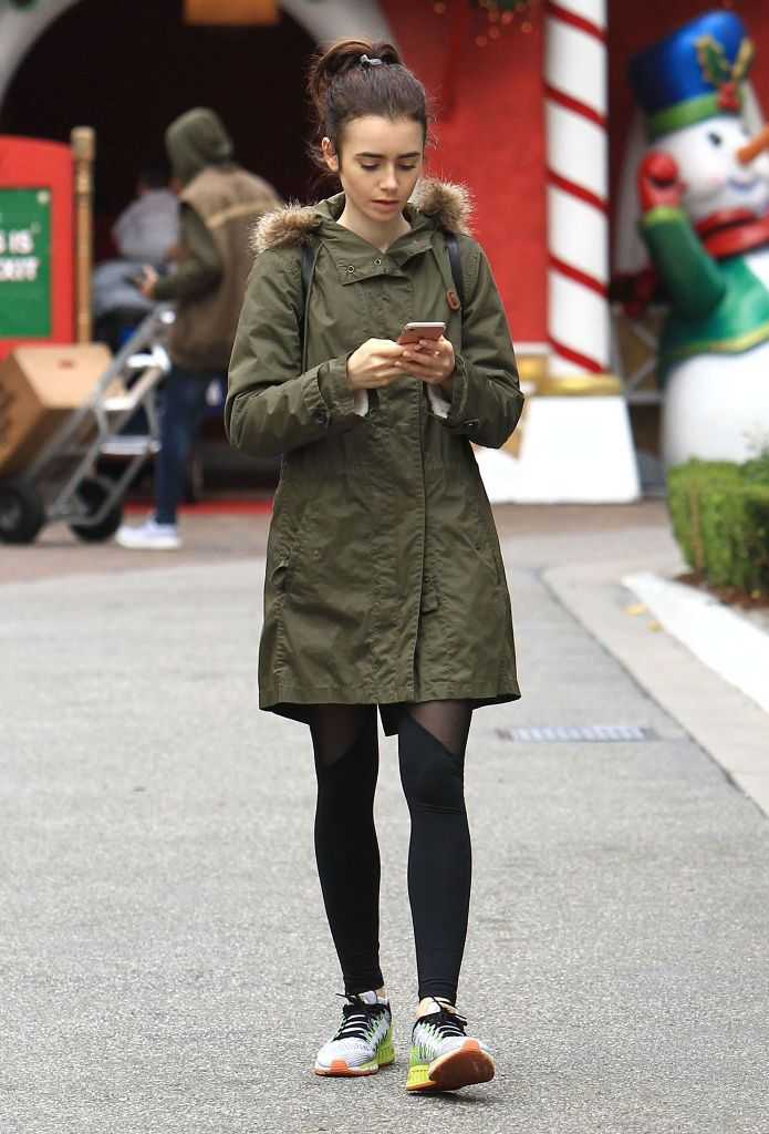 Lily Collins Street Style in Los Angeles