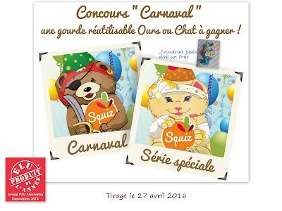 squiz gourdes lavables concours ourson pirate minette pack carnaval