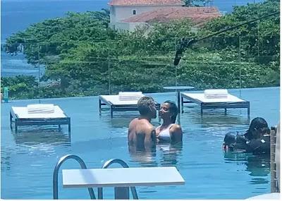 Bastidores de Amor de Mãe com Anitta e Thiago Martins. Foto – Quem.