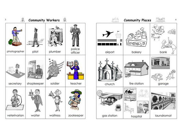 Free coloring pages of people in my neighborhood for Community places coloring pages