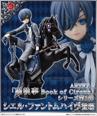 Figura Ciel Phantomhive ARTFX J Kuroshitsuji Book of Circus