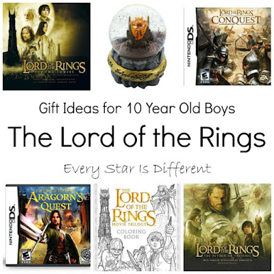 Lord of the Rings gift ideas for 10 year old boys.