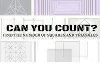 Find the Number of Squares and Triangles in Picture Puzzle Images