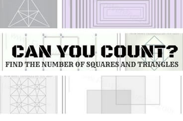 Can you count the Number of Squares and Triangles in Picture Puzzle Images