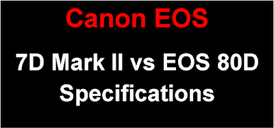 Canon EOS 7D Mark II vs EOS 80D Specification Comparison