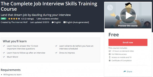 [100% Free] The Complete Job Interview Skills Training Course