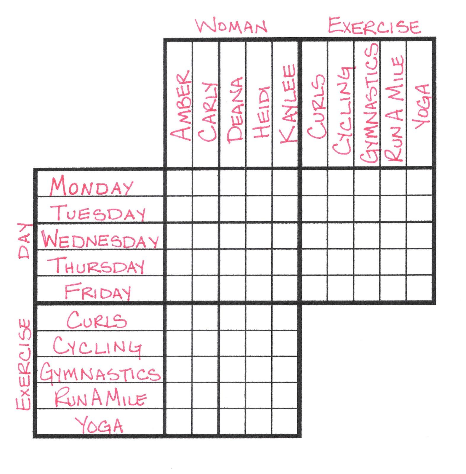 Princess Pencil Puzzle: LOGIC PROBLEM WORKSHOP