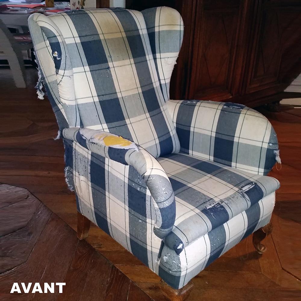 avant apr 232 s fauteuil anglais atelier velvet artisan tapissier 10e