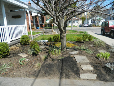 Birch Cliff Toronto spring garden cleanup after by Paul Jung Gardening Services