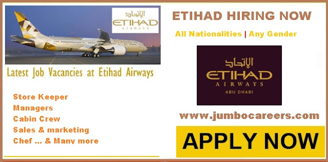 Storekeeper jobs in Etihad Ab Dhabi | Sales jobs in Etihad Airways 2018 | Manager jobs in Etihad Abu Dhabi 2018