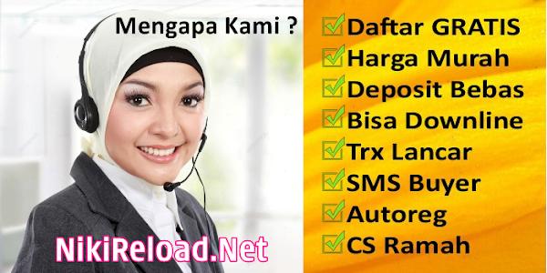 NikiReload.net Web Resmi Server Niki Reload Pulsa Aris Budiono PT AER Termurah