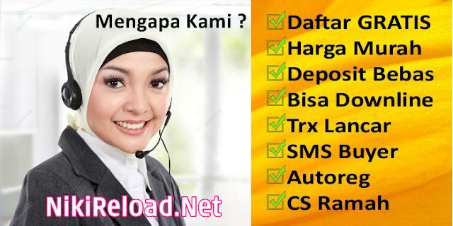NikiReload.net Adalah Web Resmi Server Niki Reload Pulsa Murah PT Aslamindo Eltama Raya