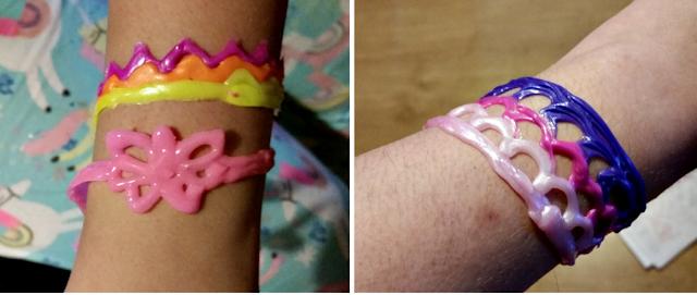 The finished bracelets.