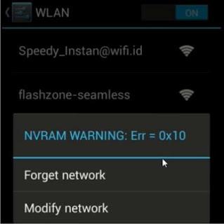 Cara Mengatasi Problem NVRAM WARNING: Err=0x10 pada Xiaomi Redmi Note 3