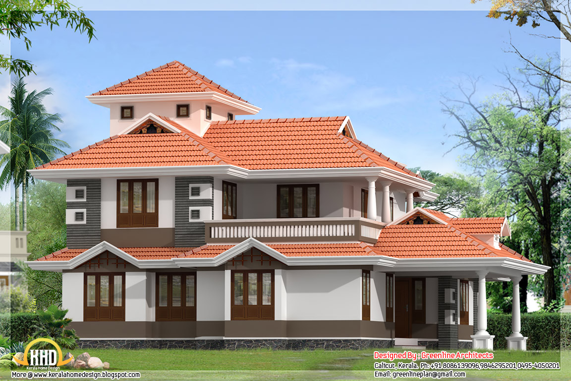 4 bedroom 2300 kerala home design kerala home for Four bedroom kerala house plans