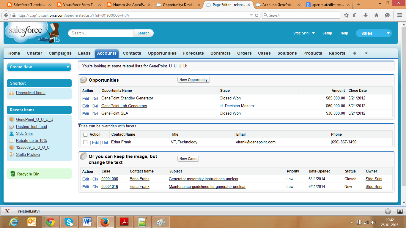 Salesforce: How To Use Apex:relatedList Tag In Visualforce Page