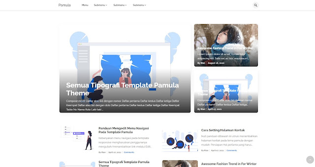 Pamula - Elegant Blogger Theme