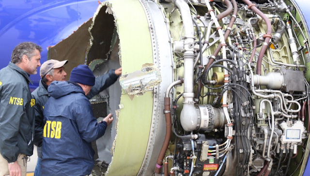 NTSB Engine in deadly southwest jet incident lacking a fan blade/Photos And Videos