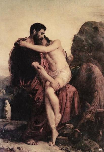 The good samaritan by Leon Bonnat, Macabre Paintings, Horror Paintings, Freak Art, Freak Paintings, Horror Picture, Terror Pictures
