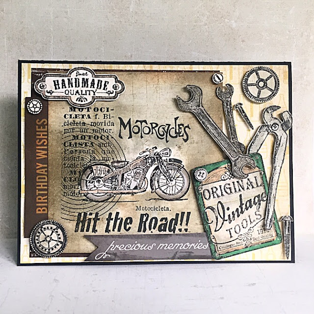 Scrapbooking card for a men