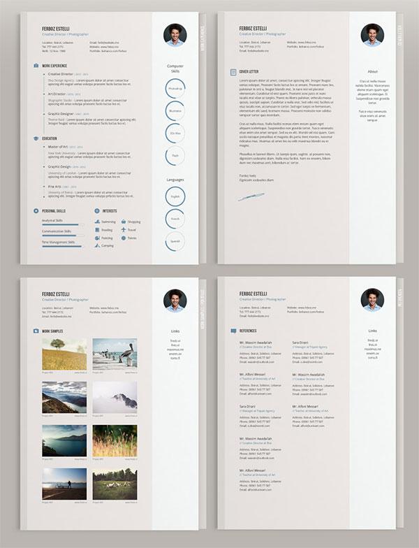 Free Minimal CV Template Design