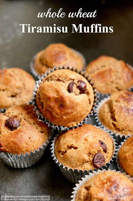Inspired by the traditional dessert, these muffins have the flavors of tiramisu in a whole wheat breakfast treat.