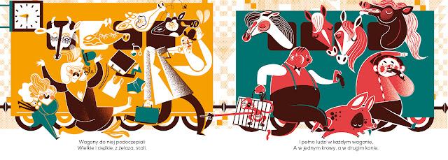 Polska Ilustracja Dla Dzieci Nowość Lokomotywa