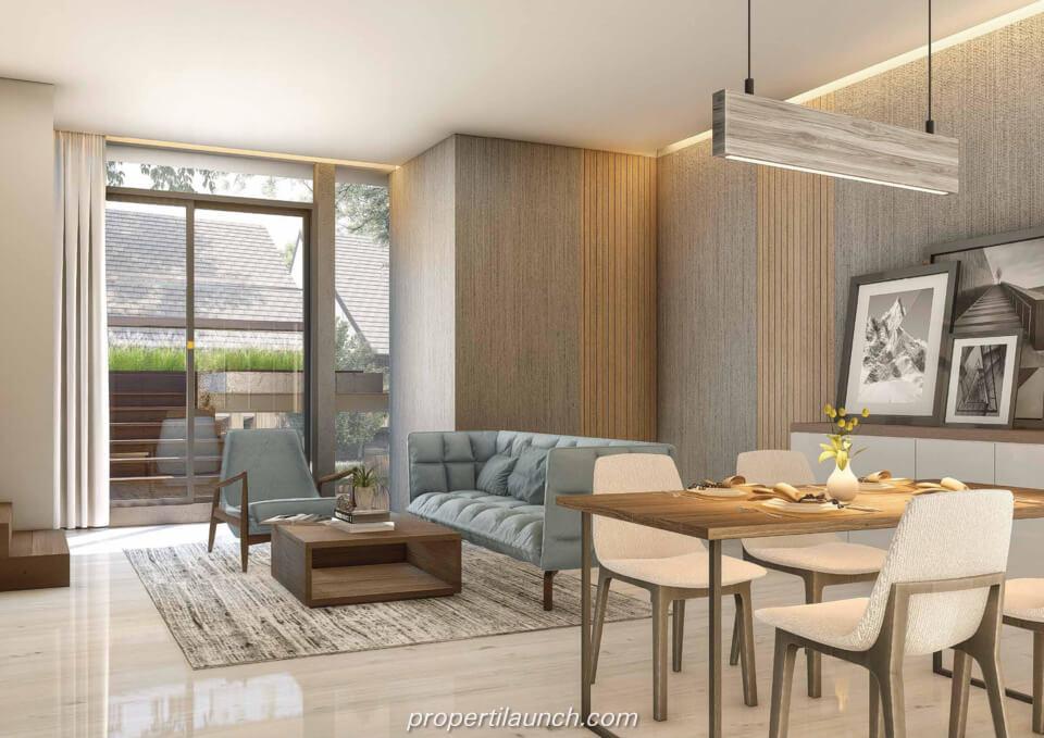 Interior Design Rumah Cluster Caelus Tipe 9 Corner