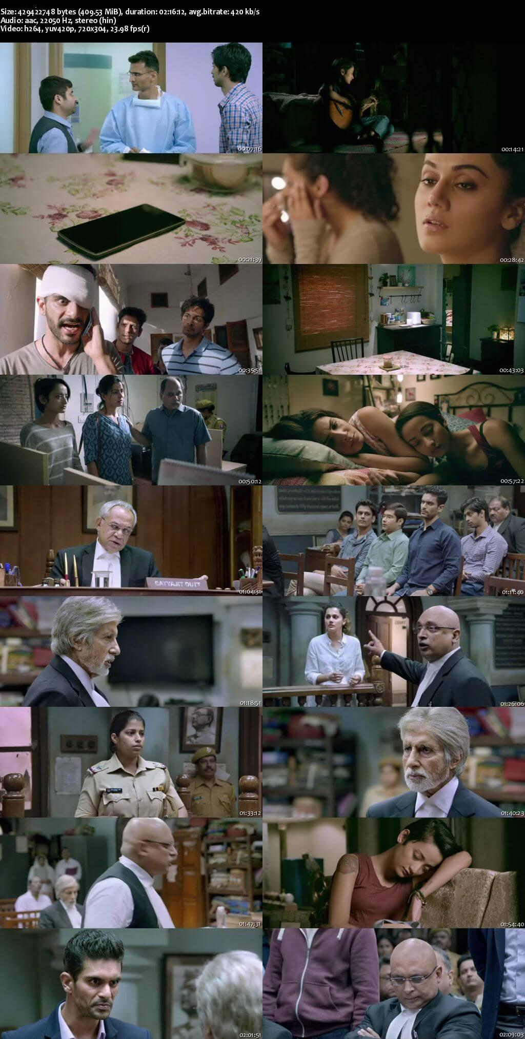 Screen Shot Of Pink 2016 300MB BRRip 480P Full Hindi Movie Watch Online Free Download