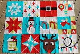 All 12 blocks of the I Wish You a Merry Quilt Along