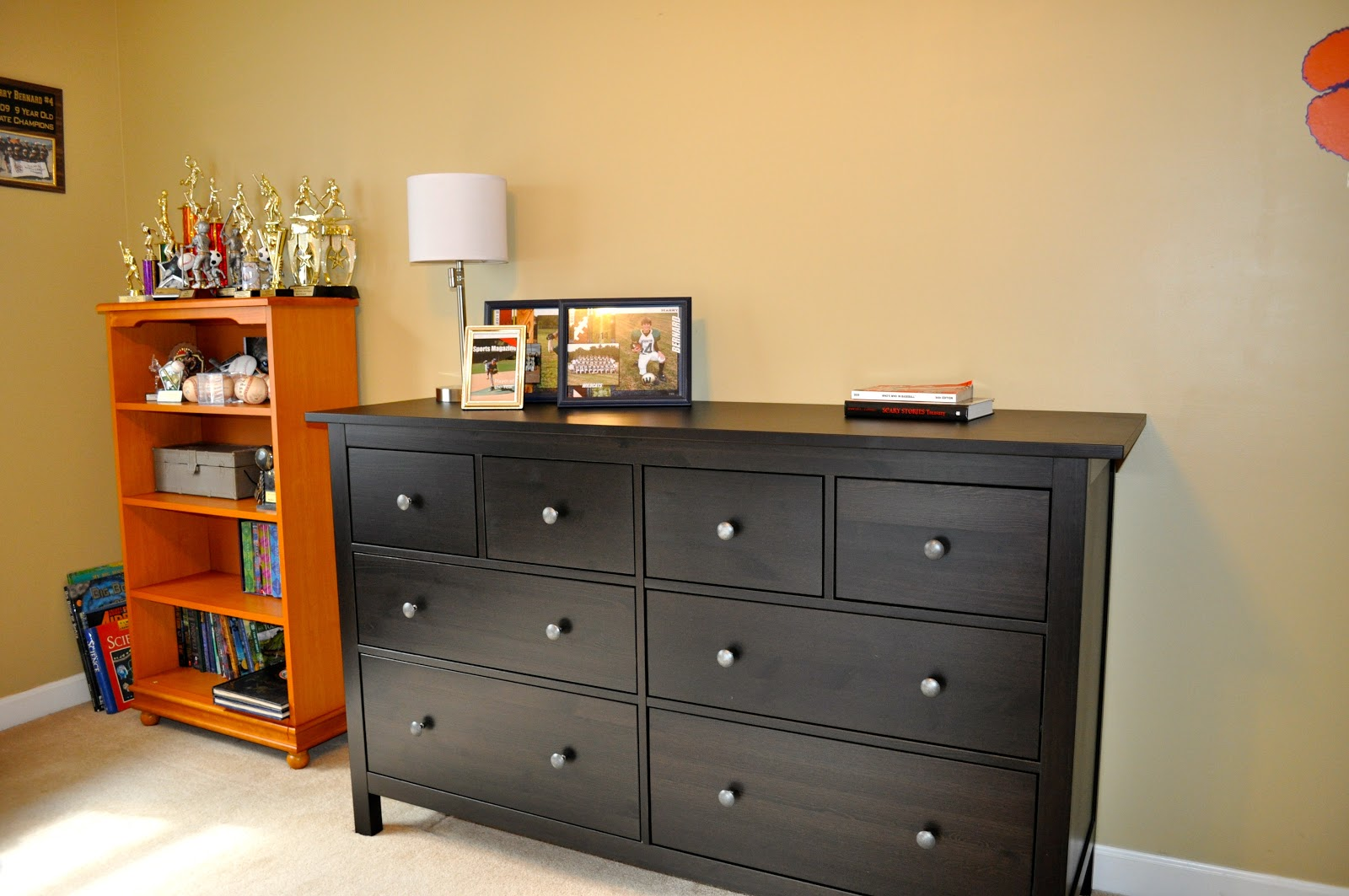 the collected interior boys bedroom makeover ikea hemnes dresser. Black Bedroom Furniture Sets. Home Design Ideas