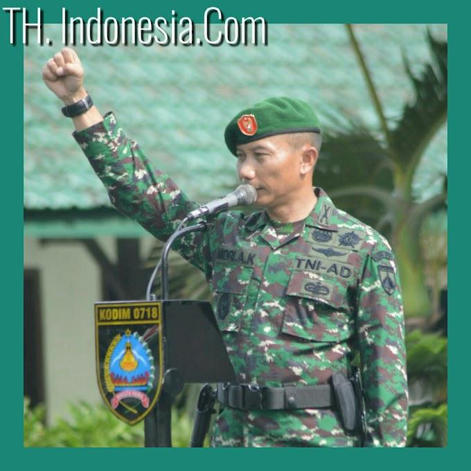 Kodim 0718 Pati Menggelar Upacara Militer Untuk Menumbuhkan Jiwa Patriotisme