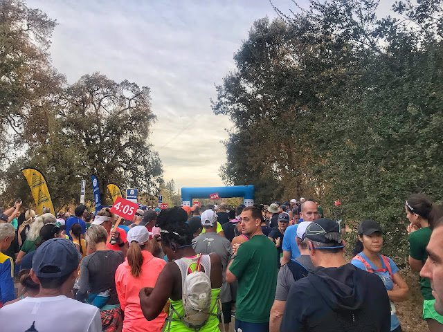 Start line of Run the Parkway 20 miler!