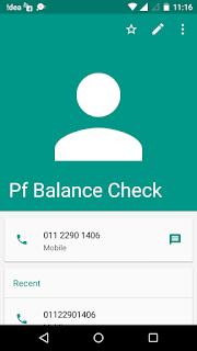 PF Balance Check Number