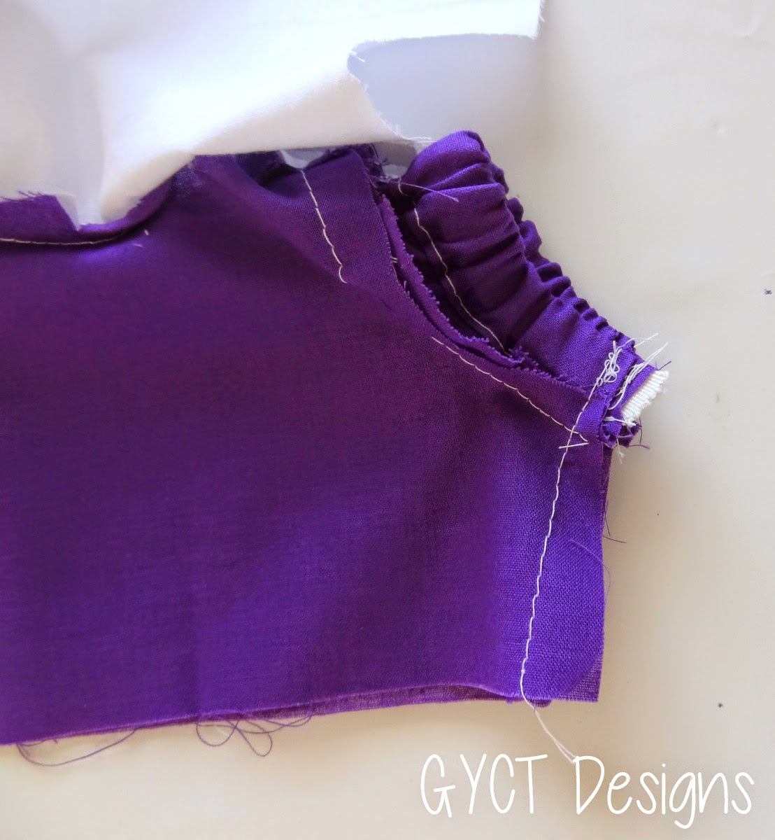 how to sew a gathered sleeve