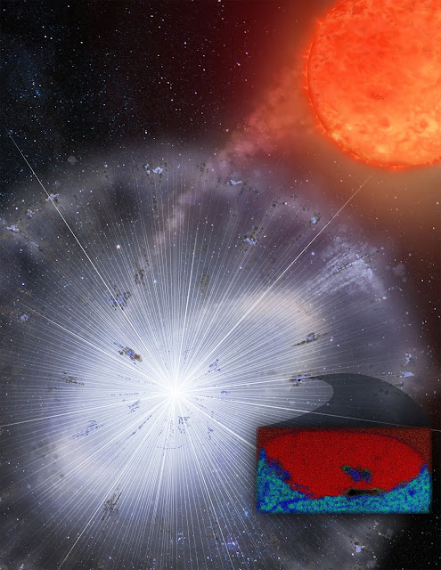 What a dying star's ashes tell us about the birth of our solar system