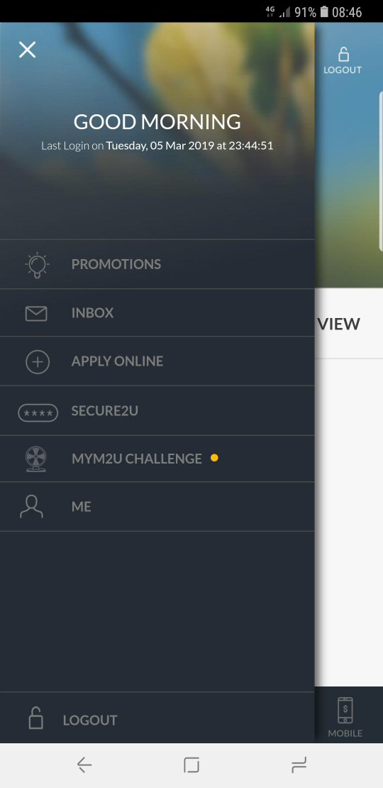 "Select ""Apply Online"" from the app menu"