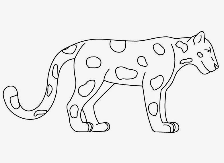 Lembar untuk Belajar mewarnai untuk anak tema hewan hewan
