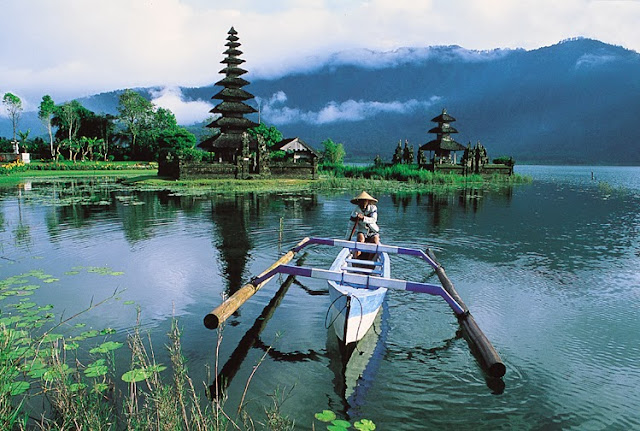 Fishing boat at the river - Bali, Indonesia