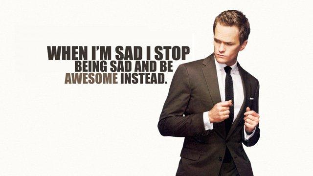 Khi buồn, tôi sẽ ngưng cơn buồn lại và thay vào đó là trở nên tuyệt vời