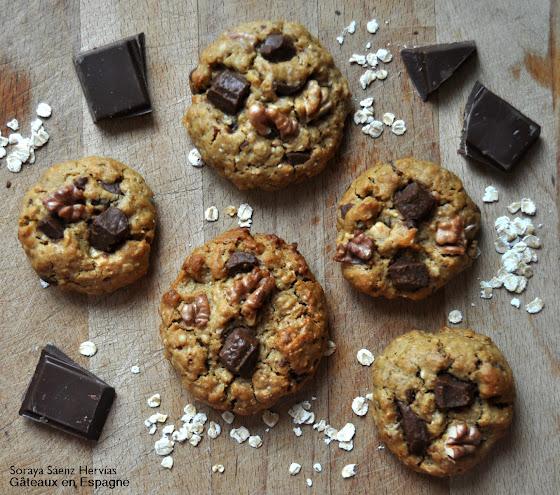 recette cookies vegans avoine chocolat