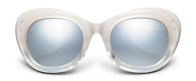 IVI Faye Sunglasses in Ivory Fade