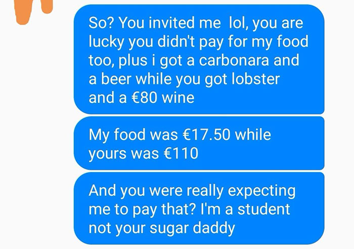 When A Guy Didn't Pay $126 For His Date's Food, The Woman Showed Her True Colors
