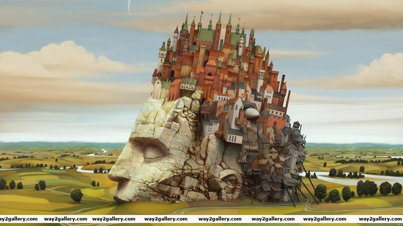 City inside my head wallpaper