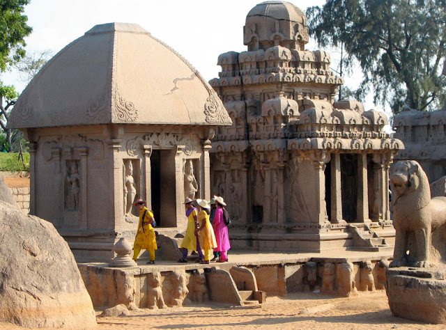 Mahabalipuram Monolithic Stone Chariots - Draupathi and Arjuna Ratha