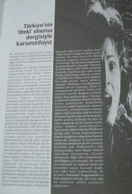 Derginin ilk sayısındaki sunuş yazısı