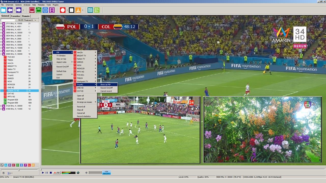 Cara Memakai Picture In Picture PIP di DVBdream