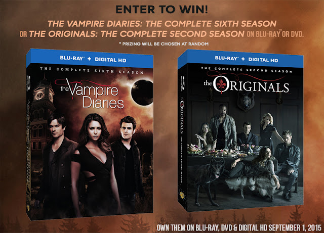 Giveaway: The Vampire Diaries Season 6 OR The Originals Season 2 (Blu-Ray)