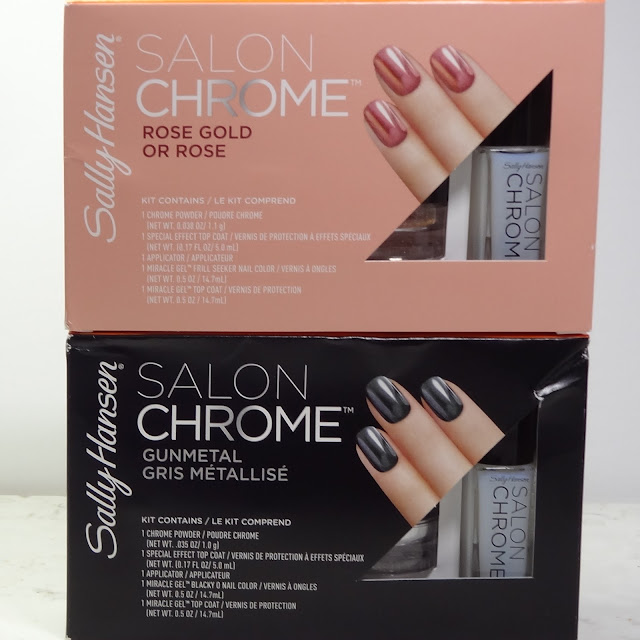 Sally Hansen Salon Chrome | Rose Gold & Gunmetal
